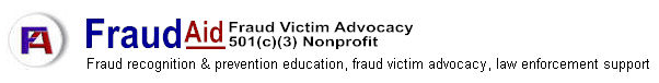 fraud recognition & prevention education, fraud victim advocacy, law enforcement support